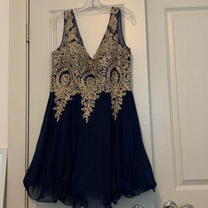 hoco dress size XL